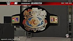 30 کمربند ساخته شده در بازی WWE 2k16