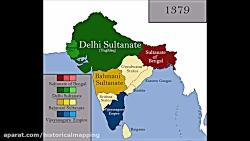 نقشه حکومت های تاریخ هند