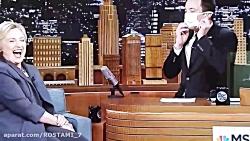 شوخی جیمی فالون با هیلا...