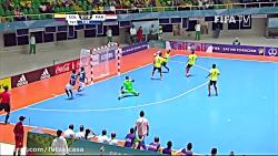 خلاصه بازی دو تیم پاراگوئه و کلمبیا(یک هشتم نهایی)