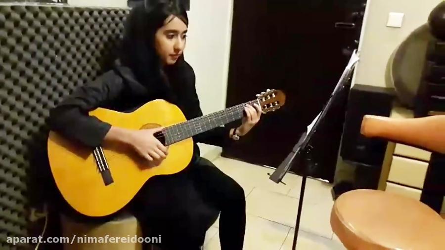 آیدا سعیدی میمینور اسپانیش هنرجوی گیتار متوسطه فرزین نیازخانی