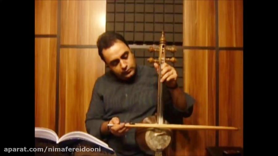 فیلم آموزش تمرین انگشت گذاری روی سیم ۳ کمانچه کتاب اول هنرستان روح الله خالقی ایمان ملکی