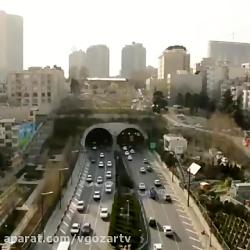 تایم لپس جالب از تونل رسالت تهران   رسانه تصویری وی گذر