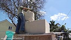 ساخت مجسمه شنی با استخر...