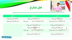 ویدیو آموزش فعل مضارع عربی نهم درس اول