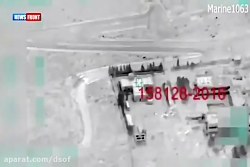 حمله جنگنده بمب افکن های روسیه به داعش در پالمیرا
