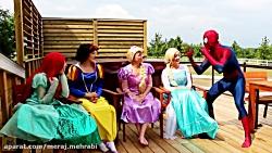 Spiderman, Frozen Elsa