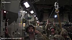 پرش چتربازان امریکایی از هواپیما C-17