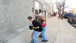 مبارزه بوکس خیابانی