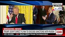 درگیری لفظی ترامپ با خبرنگار بی بی سی و سی ان ان!!!