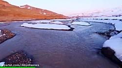 نماهنگ سد زیبای طالقان در پوشش برف زمستان سال 95