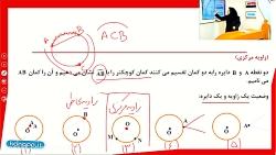 ویدیو آموزش فصل9 ریاضی هشتم (زاویه مرکزی)