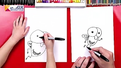آموزش نقاشی به کودک - مگس