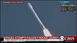 پرتاب اولین موشک قابل بازیافت فالکون 9