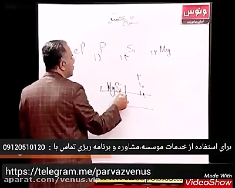 تعیین-لایه-ظرفیت-اتم-تدریس-ونوس
