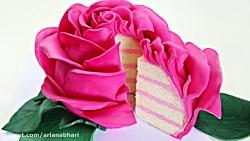 لذت آشپزی - کیک گل سرخ