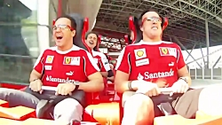 آلونزو و ماسا در سریعترین ترن هوایی جهان Ferrari Park