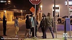 کلیپ دیدنی از یک دعوای خیابانی در آمریکا
