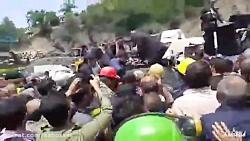 حمله کارگران معدن به ما...
