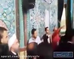 ورود حسن روحانی به حسینیه ارشاد برای شرکت در انتخابات 96