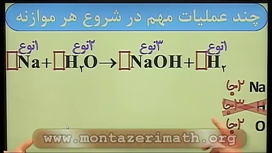 موازنه-واکنش-شیمیایی-تدریس-حرف-آخر