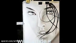 آموزش نقاشی با دست و انگشت - نقاشی چهره
