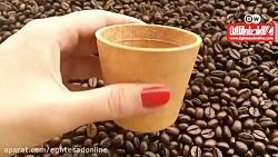 لیوان های خوراکی به جای لیوان های یکبار مصرف