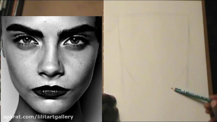 آموزش روش آسان برای طراحی چهره طبیعی با مداد