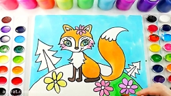 آموزش نقاشی کودکان - نقاشی روباه