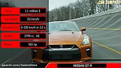 مقایسه مرسدس AMG GT و نیسان GTR