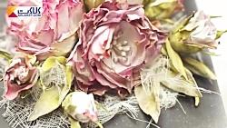 ساخت جعبه جواهرات با تزیین گل های فومی
