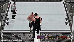 کشتی کج WWE2K: آندر تیکر vs جان سینا (شش نفره) گیم پلی