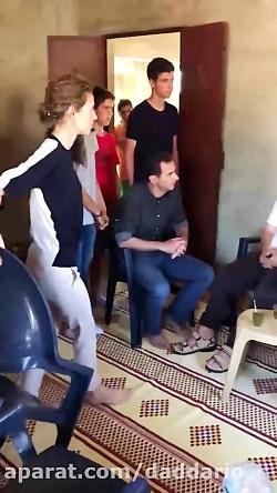 عیادت بشار اسد و همسرش از مجروحان ارتش سوریه در حماه