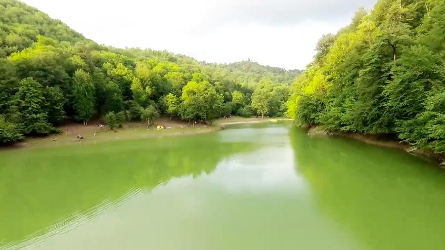 تصویر هوایی از دریاچه چورت (مازندران   نکا )