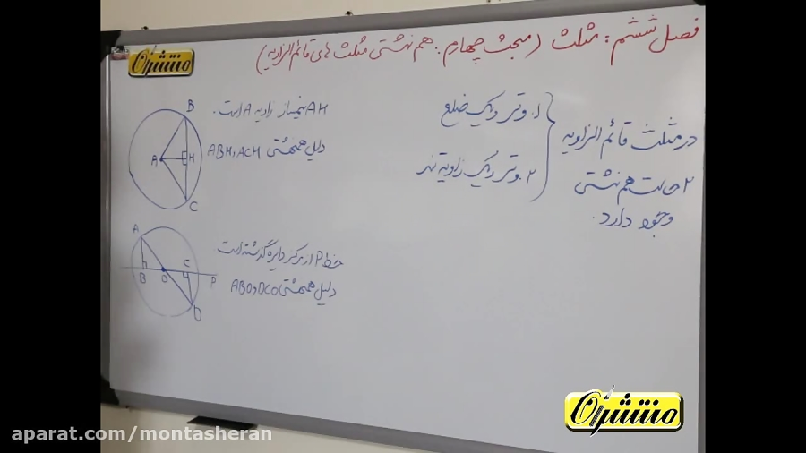 همنهشتی-مثلث-های-قائم-الزاویه-تدریس-منتشران