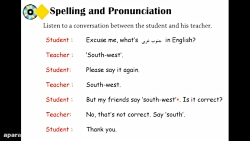 ویدیو آموزش Spelling درس5 زبان هشتم