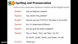 ویدیو آموزش spelling درس6 زبان انگلیسی هشتم