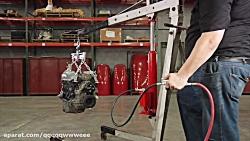 Strongway Air/Hydraulic Long Ram Jack - 8-...