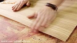 چسباندن روکش چوب طبیعی به طور دستی