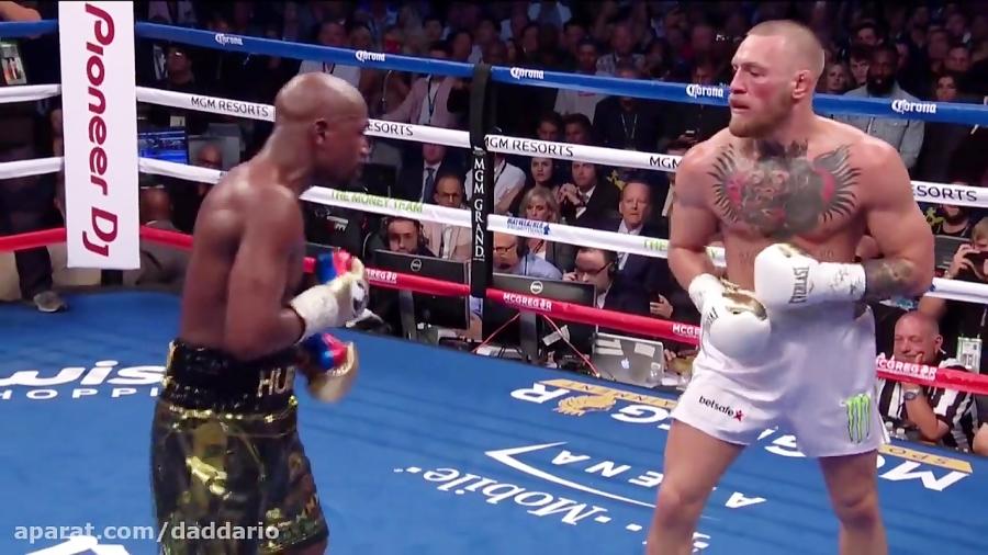 تصویر از باخت کانر مک گرگور در برابر فلوید می ودر در مسابقه بوکس