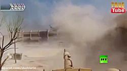 نبرد تانک تی ۷۲ ارتش سوریه با RPG زن ارتش آزاد