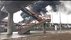 آتش سوزی و انفجار در پالایشگاهی در اسراییل