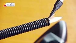 ترفندی جالب برای دست و پا گیر بودن کابل ها