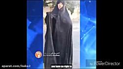بحث یک خانم چادری با دختر بی حجاب جالبه