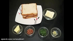 لذت آشپزی - طرز تهیه نان - نان سیر با پنیر