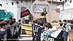حضور آتش نشانان در مدرسه به مناسبت روز ملی آتش نشانی