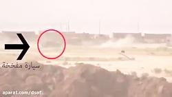 منفجر کردن خودروی انتحاری داعش توسط آرپی جی زن عراقی