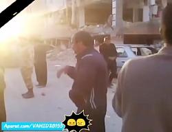 گریه های سوزناک مردم کرمانشاه در سر پل ذهاب پس از زلزله