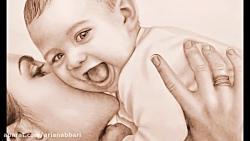نقاشی مادر و نوزاد