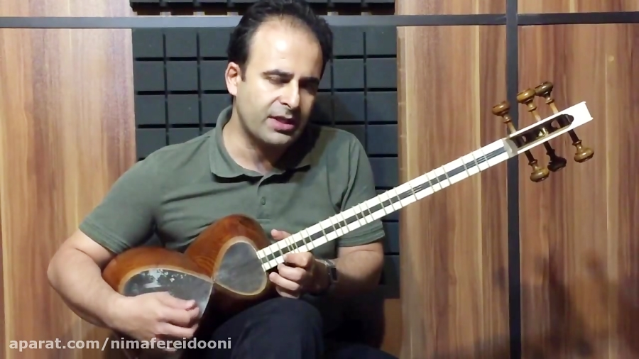 فیلم آموزش نغمه مخالف سهگاه ده قطعه برای تار ۲ حسین علیزاده . نیما فریدونی تار